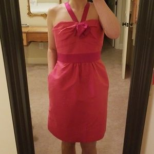 Phoebe Couture Dupioni Silk Fuchsia Cocktail Dress